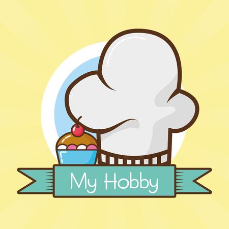 my hobby cooking desserts vector illustration design 向量圖像
