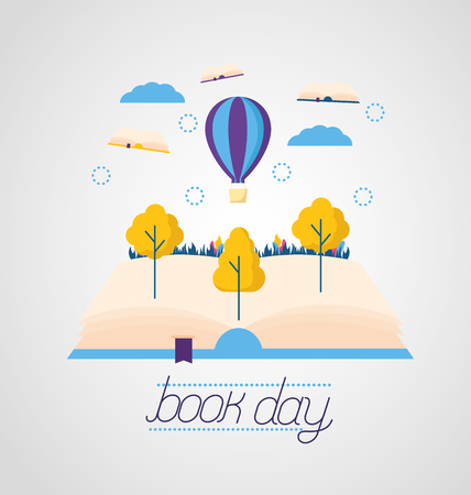 world book day literature adventure vector illustration Иллюстрация