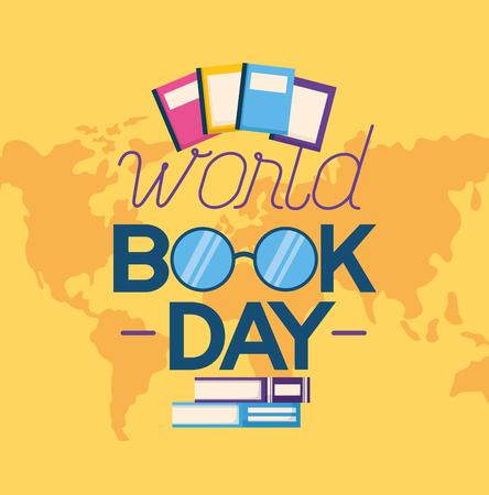 world book day literature read vector illustration Ilustrace