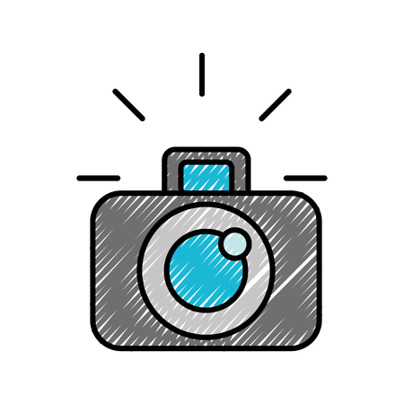 photographic camera device lens flash graphic vector illustration