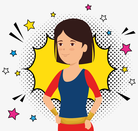 woman wearing superheroe costume icon vector illustration