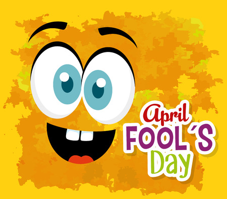 funny face expression to fools day vector illustration