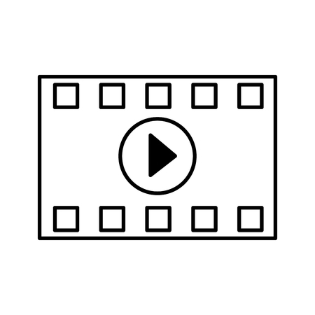 strip countdown cinema movie outline on white background vector illustration 일러스트