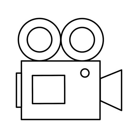 projector cinema movie outline on white background vector illustration Banque d'images - 124502983