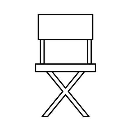 director chair cinema movie outline on white background vector illustration