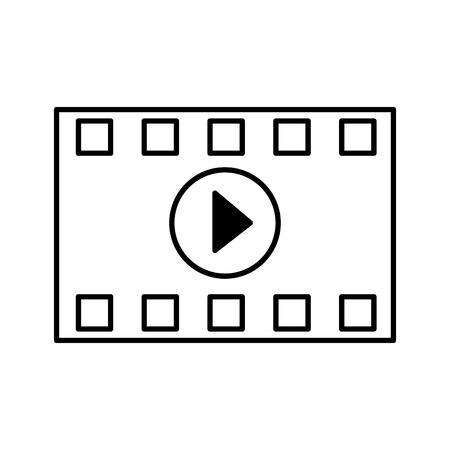 pasek odliczający film kino zarys na białym tle ilustracji wektorowych