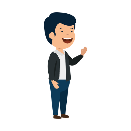happy young man character vector illustration design