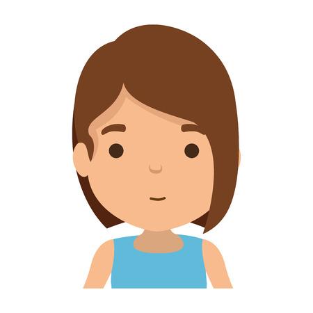 cute little girl character vector illustration design Banco de Imagens - 118766182