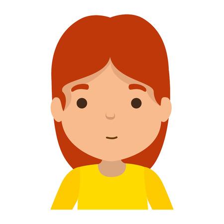 cute little girl character vector illustration design Banco de Imagens - 118766190