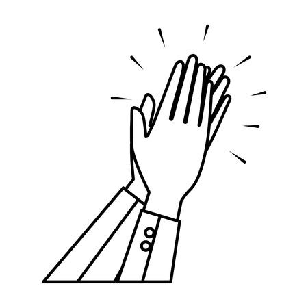 Manos humanas aplaudiendo icono diseño ilustración vectorial Ilustración de vector