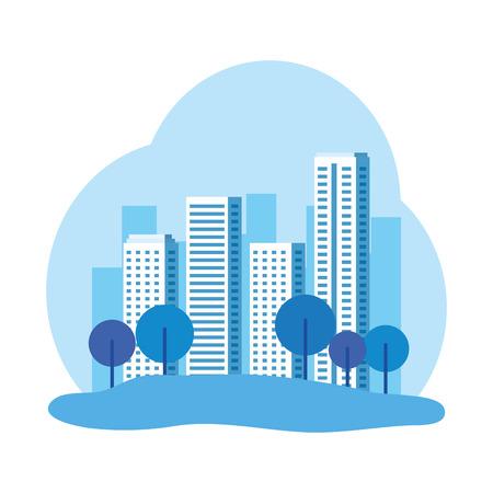 park with cityscape background vector illustration design Illustration