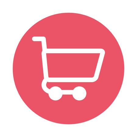 shopping cart commercial icon vector illustration design Vektorové ilustrace