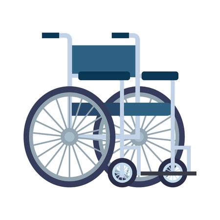 Silla de ruedas, diseño de ilustraciones vectoriales icono aislado