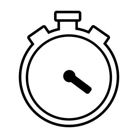 icône de temps de chronomètre sur fond blanc