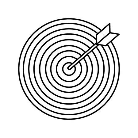 Objetivo con diseño de ilustración de vector de icono de flecha Ilustración de vector