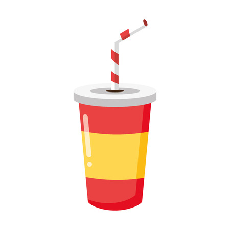 soda disposable cup on white background vector illustration