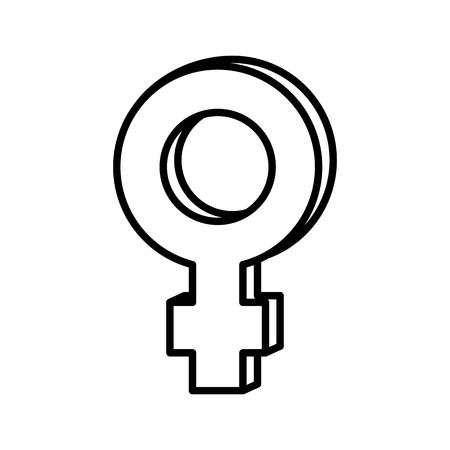 female gender symbol icon vector illustration design Illusztráció