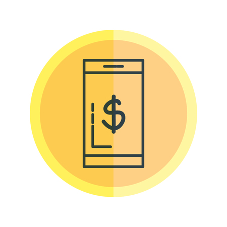 smartphone with dollar symbol vector illustration design