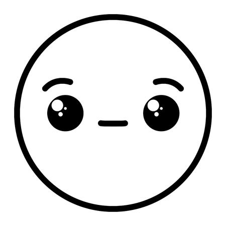 emoji face on white background vector illustration