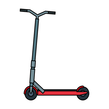 folding scooter isolated icon vector illustration design