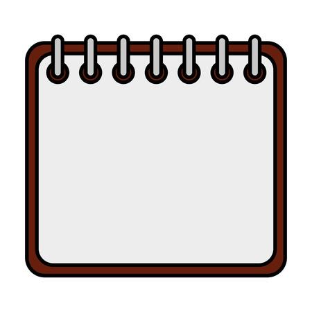 progettazione dell'illustrazione di vettore dell'icona isolata promemoria del calendario Vettoriali
