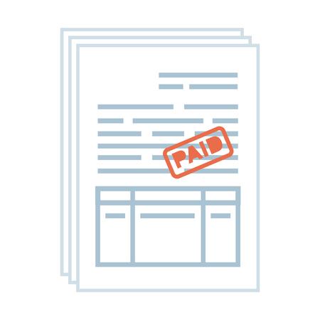 tax documents paper icon vector illustartion design Foto de archivo - 118959610