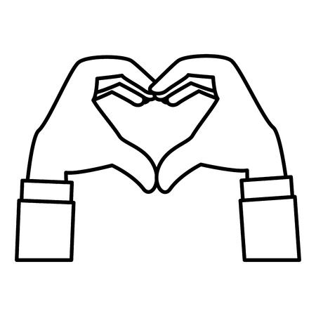hands forming a heart vector illustration design Stok Fotoğraf - 124371258