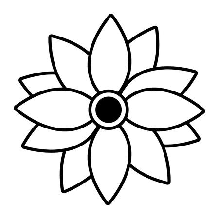 flower petals decoration on white background vector illustration Ilustrace