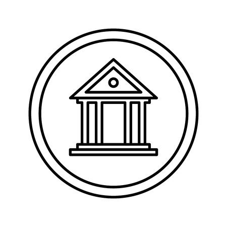 bank building isolated icon vector illustration design Reklamní fotografie - 118984089