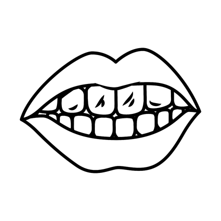 female mouth isolated icon vector illustration design Standard-Bild - 118984124
