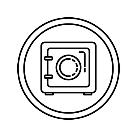 safe security box icon vector illustration design Stock fotó - 118984145