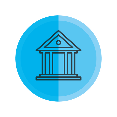 bank building isolated icon vector illustration design Фото со стока - 124332169