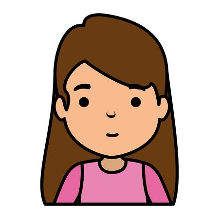 cute little girl character vector illustration design Banco de Imagens - 118994991