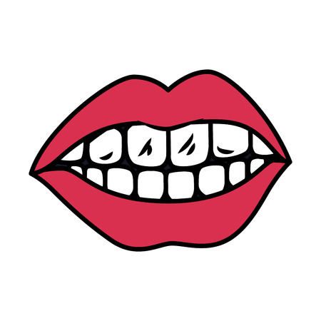 female mouth isolated icon vector illustration design Banque d'images - 118997820
