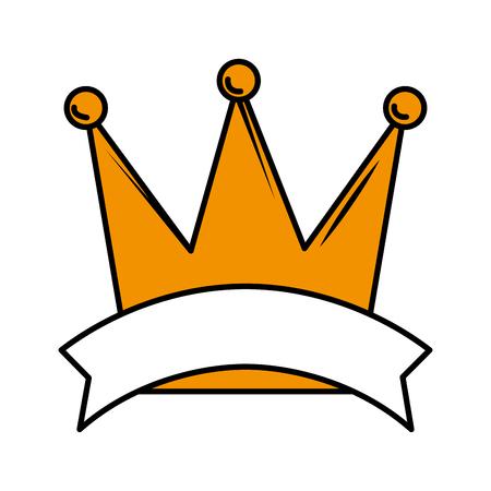 queen crown isolated icon vector illustration design Archivio Fotografico - 119004399