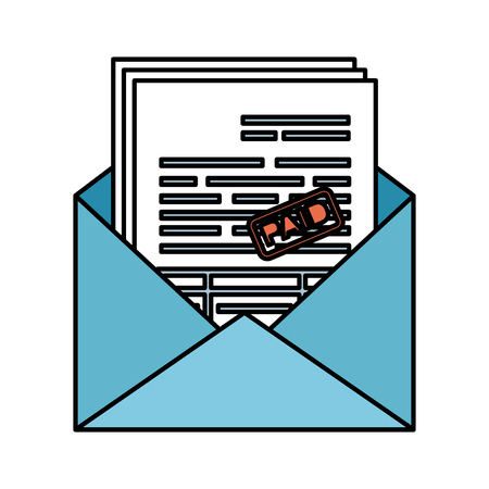envelope mail with taxes vector illustration design 일러스트