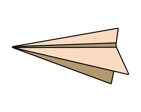 paper plane icon on white background vector illustration