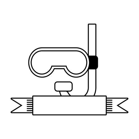 snorkel diving icon on white background vector illustration Banco de Imagens - 124334564