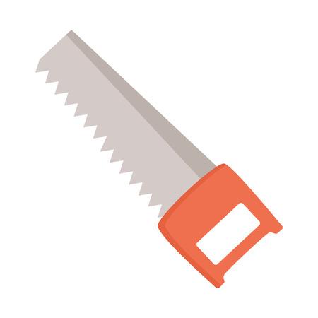 sega l'icona dello strumento di costruzione su sfondo bianco illustrazione vettoriale
