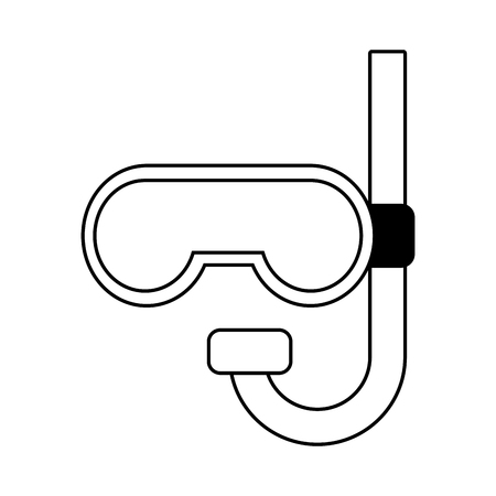 Schnorchel-Tauchsymbol auf weißem Hintergrund-Vektor-illustration Vektorgrafik