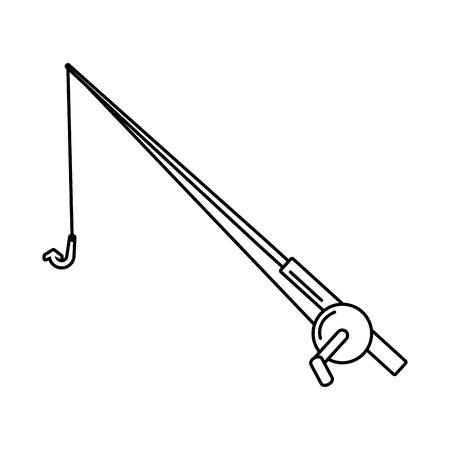 fishing rod icon on white background vector illustration
