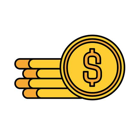 coins cash money icon vector illustration design