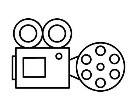 video camera in  lights icon vector illustration design Illustration