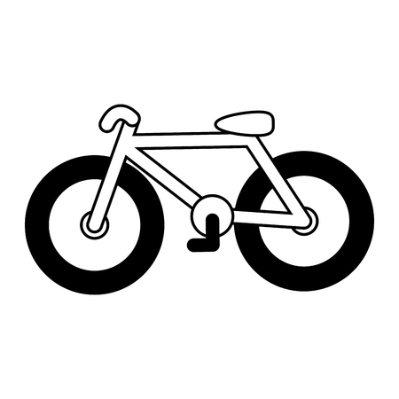bicycle transport icon on white background vector illustration