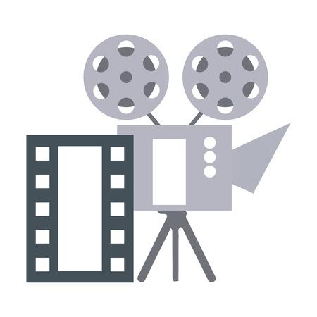 cinema projector and movie tape icon vector illustration design Foto de archivo - 124334933