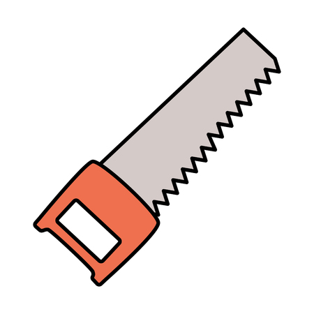 saw construction tool icon on white background vector illustration Ilustração