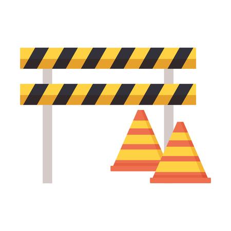 barricade repair construction saw spanner screwdriver vector illustration Reklamní fotografie - 124338885