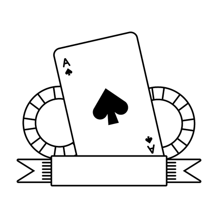 casino bet cards and chips on white background vector illustration 向量圖像