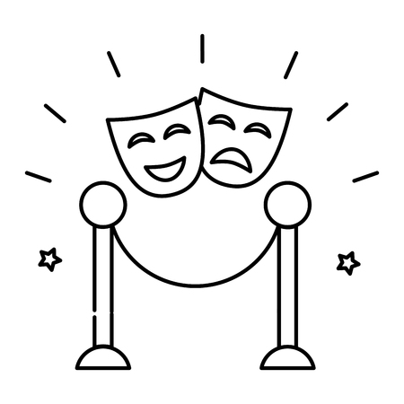 theater mask isolated icon vector illustration design  イラスト・ベクター素材