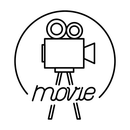 Caméra vidéo dans la conception d'illustration vectorielle icône lumières